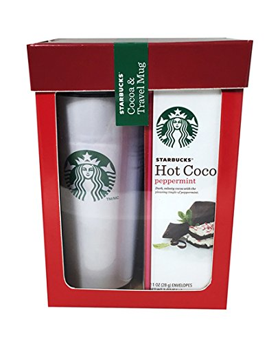 Starbucks Peppermint Hot Cocoa and Travel Mug Gift