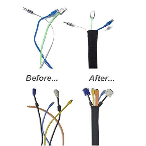 Funda, De Gestión De Cable Organizador de cables, sistema de gestión de Cable para escritorio, sistema de entretenimiento, TV, y más.