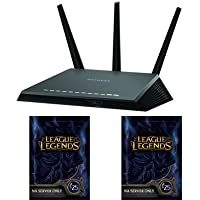 NETGEAR Nighthawk AC1900 Dual Band Wi-Fi Gigabit Router (R7000) & League of Legends $50 Gift Card - 7000 Riot Points - NA Server Only [2x $25 Online Game Codes] Bundle