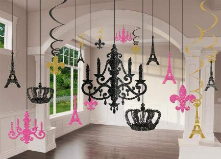 Amscan A Day in Paris Chandelier Decorating Kit, One Size, Multicolor, 17ct -