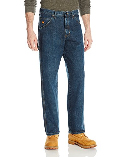 - Wrangler Men's Flame Resistant Carpenter Jean, Indigo, 38x32