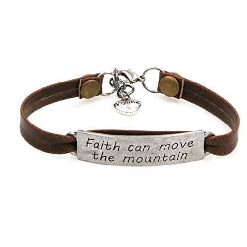 Yiyang Christian Gifts for Women Inspirational Bracelets for Her Leather Bangle Jewelry ()