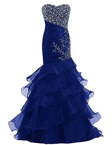 Quinceanera Gown New (Shang Womens Mermaid Prom Dresses Long Formal Evening Ball Gowns Royal Blue US 2)