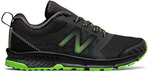 New Balance Kids' Nitrel V3 Trail-Runners,Grey/Lime,7 Wide US Little - Shoes Wide New Balance Boys