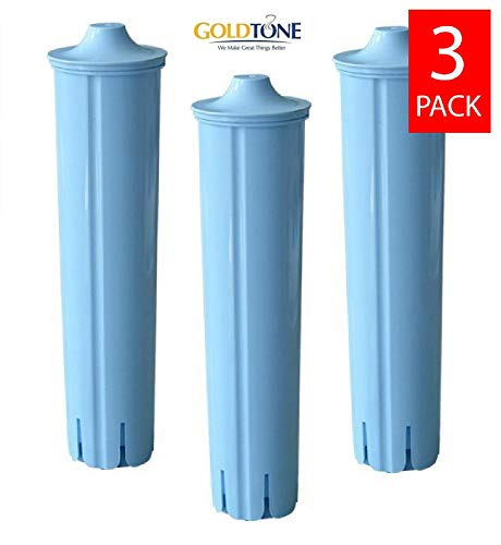 GoldTone Brand Charcoal Water Filter fits Jura Espresso Machine & Jura Capresso Coffee Maker. Replaces your Jura Clearyl Blue Water Filter - (3 Pack)