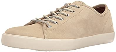 FRYE Men's Brett Low Fashion Sneaker, Bone, 7 D US