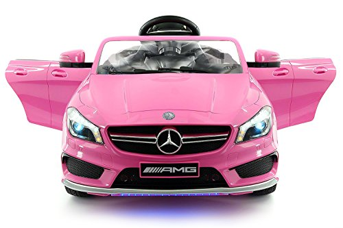 2017 Girls Mercedes AMG 12V Power Ride on Toy Car W/ Remote Control, Leather Seat, Openable Doors, 2 Speeds