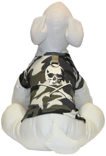 Gooby Skull-T, Large, Green (Gooby Dog Clothes)
