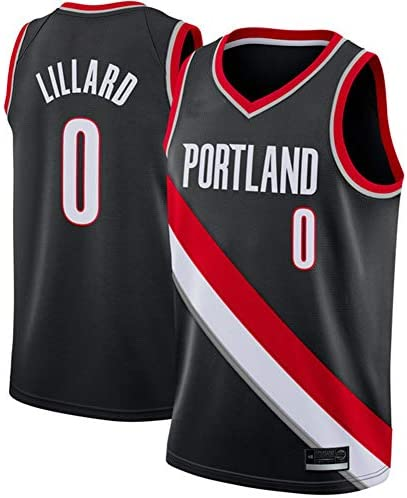#0リラードポートランドジャージ、バスケットボールパフォーマンスベスト用タンクトップ ロイヤルジャージーブラック(S-Xxl)