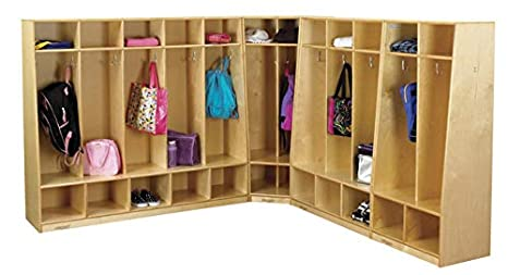 Amazon.com: Childcraft 202818 5-unit Banco Coat Locker, tono ...