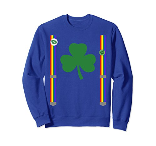 Rainbow Suspenders Dark Green Shamrock St Pattys sweatshirt