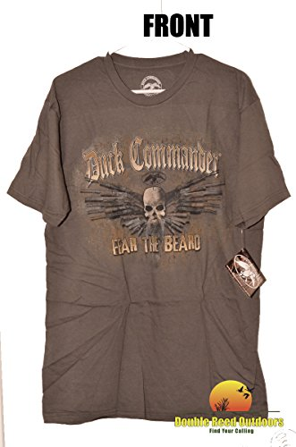 DUCK COMMANDER T-Shirt Guns Fear The Beard Charcoal, L - Large for $<!--$34.49-->