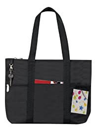 Bags for LessTM Zipper Travel Tote Sports Gym Bag, Black