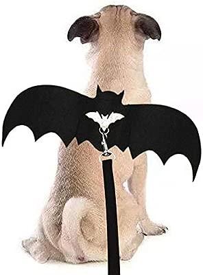 Volwco Disfraz de alas de murciélago para Mascotas, Halloween y ...