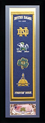 Legends Never Die NCAA Notre Dame Fighting Irish Team Heritage Banner with Photo, Team Colors, 15