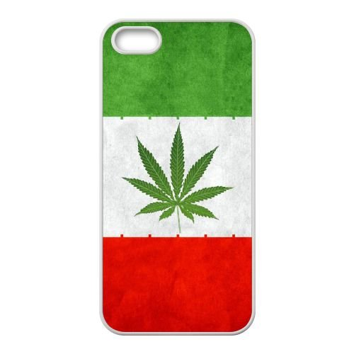 H9R42 iran mauvaises herbes drapeau Y9O7EQ coque iPhone 5 5s cellulaire cas de téléphone couvercle coque blanche XF1SXH5CA