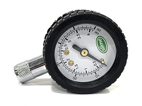 Slime - Manómetro comprobador presión portátil Profesional de 0 a 4 Bar. 0-60 PSI.: Amazon.es: Coche y moto