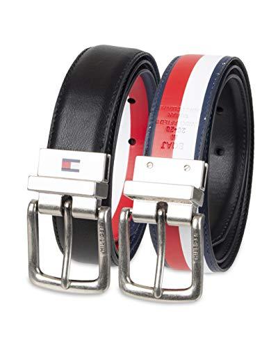 Tommy Hilfiger Boy's Reversible Casual Belt, Black/Multi, Small (22-24) (Hilfiger Kids)