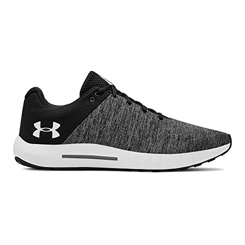 Under Armour Men's Micro G Pursuit Twist Running Shoe, Black (001)/White, ()