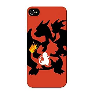 Goldenautumn High Quality Shock Absorbing Case For Iphone 5/5s-charzard Charmander