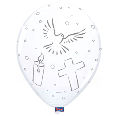 Folat 63474 Holy Communion Balloons White 8 pieces,