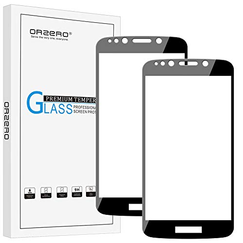 [2 Pack] Orzero for Motorola Moto E5 Play/ E5 Play Prime / E5 Cruise Tempered Glass Screen Protector, 2.5D Arc Edges 9 Hardness HD Anti-Scratch Full-Coverage [Lifetime Replacement Warranty]