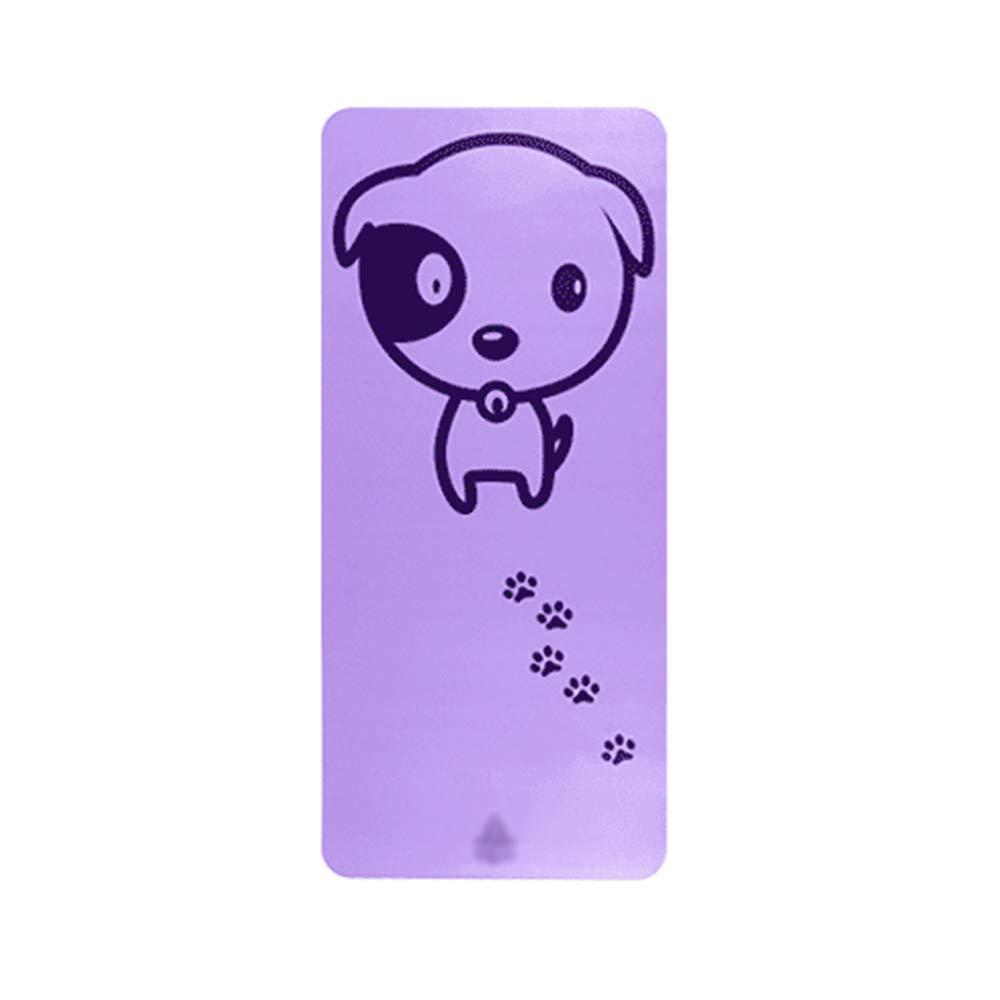 GYZ Tappetino Yoga - Bambini, Spessi e Lunghi, Antiscivolo, Simpatici Animali Domestici, stuoia per Principianti, stuoia da Ballo, Tappetino, Dimensioni  132cm × 61cm  +-+  (colore   Elegant viola)