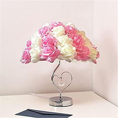 LED Table Lamps - Adjustable Rose Flower Desk Lamp|Wedding Living Room Bedroom Party Home Decor with White LED Lights 3Colors