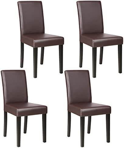 picture of Mecor Upholstered Dining Chairs Set of 4, Kitchen PU Leather