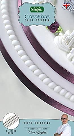 Rope Borders - Katy Sue Designs Silicone Mould for Cake Decorating Cupcakes Sugarcraft and Candies