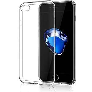 NEW'C Coque Compatible avec iPhone 7/8,Ultra Transparente Silicone en Gel TPU Souple Coque de Protection avec Absorption…