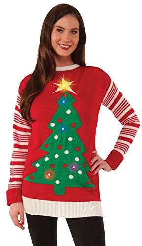 Forum Light Up Tree Ugly Christmas Sweater, Multi, Large]()