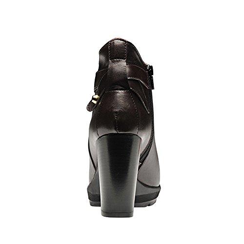 Evita Shoes TUANA Damen Stiefelette Glattleder Bordeaux