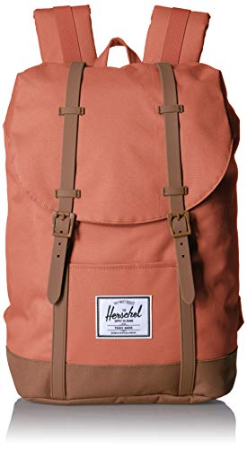 Herschel Retreat Backpack, Apricot Brandy/Saddle Brown, One - Apricot Brandy