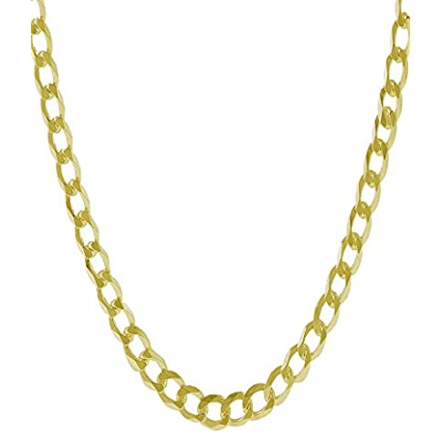 - 41qKlAGY8uL - 14K Solid Yellow Gold 7.0mm Thick Heavyweight Cuban Curb Link Chain Bracelet/Necklace