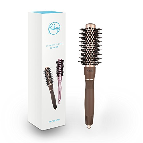 - Round Hair Brush for Blow Drying, YaFex Ceramic Thermal Barrel Brush with Boar Bristle - Lightweight, Anti-Frizz, Add Volume and Shine, 1 inch (Bronze)