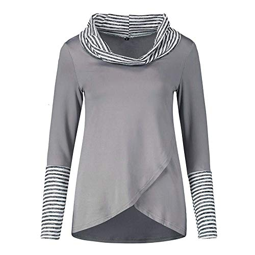 Worclub Rayures Manches Shirt Gris Longues Sweat 76q7BxrH