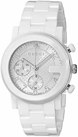 07793085e41 Gucci G - Chrono Collection Analog Display Swiss Quartz White Men s Watch (Model YA101353