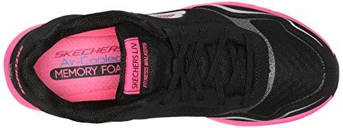 Skechers Dames Liv Highline Fashion Sneaker Zwart / Roze