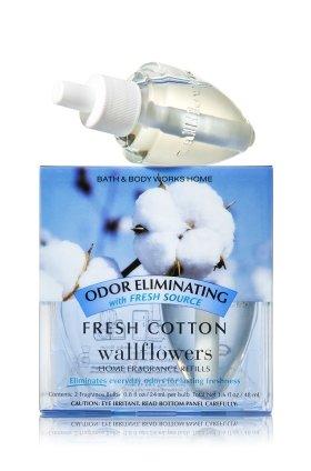 Bath & Body Works Wallflowers Home Fragrance Refill Bulbs Fresh Cotton 2 Pack