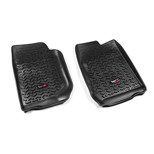 Rugged Ridge All-Terrain 12920.01 Black Front Row Floor Liner For 2007-2018 Jeep Wrangler JK and JKU Models