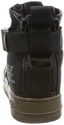 Nike W SF AF1 Medio 2875 Negro AA3966 003 - Zapatillas Deportivas Unisex Lona (Black/Black Dark Hazel)