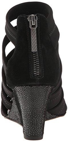 Donald J Pliner Women's Jones-Dks Wedge Sandal Black Crepe UgJsCwJL