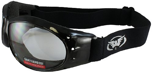 Global Vision Deluxe Eliminator Goggles (Black Frame/Clear Lens)
