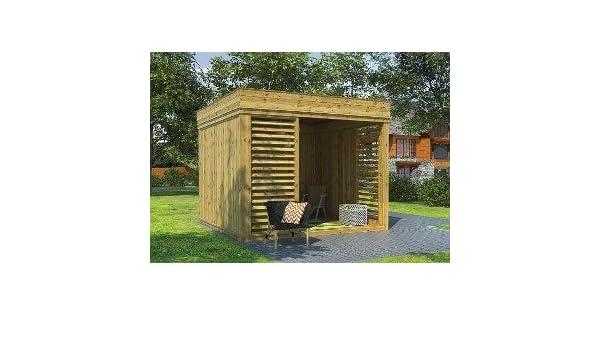 Cenador de jardín de madera de 8 m² a 21 m²: Amazon.es: Bricolaje ...