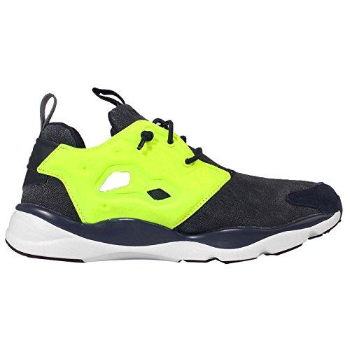 Reebok Furylite Asymmetrische Womens Sneakers Sneakers Navy Geel Roze Wit V68676