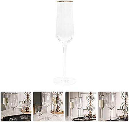 Homoyoyo Copas de Champán con Flauta de 145Ml Modernas Flautas de Champán para Tostar Flautas de Boda con Vino Espumoso