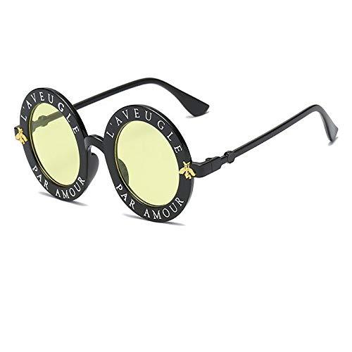 Gafas Gafas Y Abeja 6 7 Pequeña Moda Mujer Hombre Redondas Letras De De Hombre Mujer WANGKEAI De Gafas Inglesas Y Sol Retro Sol 0xwS7Zf