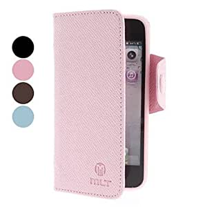 Buy The lovely grass type of PU leather case with the iPhone 5 seconds card slot (various colors) , Black