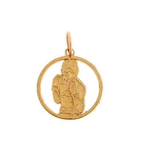 14K Yellow Gold Boxer Pendant Necklace - 20 (14k Yellow Gold Boxer)